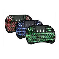 Беспроводная мини клавиатура, ТАЧПАД, аккумулятор, подсветка, АНГЛ, фото 1
