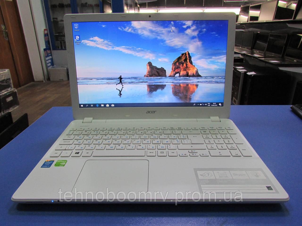 Белый Acer V3-572G - Intel i7-4510U 3.1GHz/DDR3 8GB/GT 840M 2GB