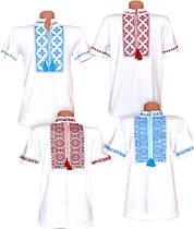 Классическая мужская вышиванка с коротким рукавом, фуликра, р.р.42-56