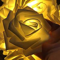 "Гирлянда на батарейках из роз ""Пламя чувств"", фото 1"