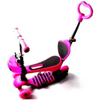 """Самокат Scooter """"Божья коровка"""" 5in1 Pink"""