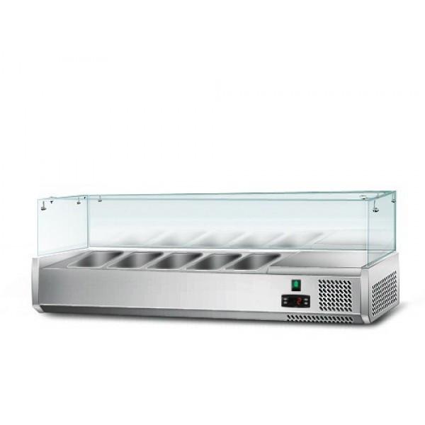 Холодильная витрина 1,2мx0,34м -для 5x1/4 GN-контейнеров AGG123N