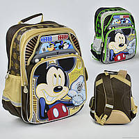 Рюкзак  Mickey Police 2 цвета, 4 отделения, 2 кармана, брелок, ортопедическая спинка