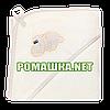 Детское махровое (петля нормальная) уголок-полотенце после купания 95х95 см ТМ Ярослав 1568 Бежевый 2