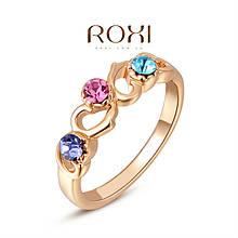Модное кольцо с разноцветными цирконами ROXI