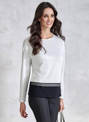 Стильная трикотажная блуза с люрексом. Модель V61 Sunwear. Коллекция осень-зима 2018-2019