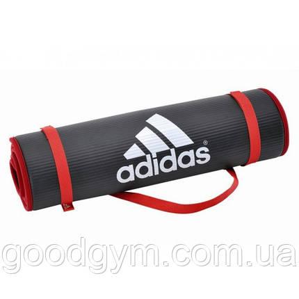 Мат для фитнеса Adidas (черный) ADMT-12231, фото 2