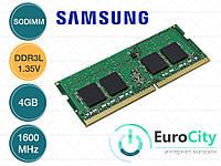 Оперативная память Samsung SODIMM DDR3L-1600 4GB PC3L-12800S 1.35V (M471B5173QH0-YK0) Модуль ОЗУ для Ноутбука.