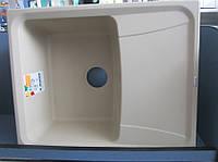 Гранитная кухонная мойка Plados Roxana HR6150 (45 biege metallic), фото 1
