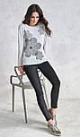Женская трикотажная блуза с принтом. Модель V66 Sunwear. Коллекция осень-зима 2018-2019, фото 2