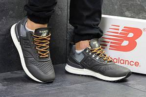 Нью беланс кроссовки мужские кожаные серые повседневные (реплика) New Balance Trailbuster Grey Leather