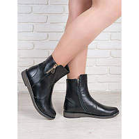 Классические ботинки женские на низком каблуке натуральная кожа