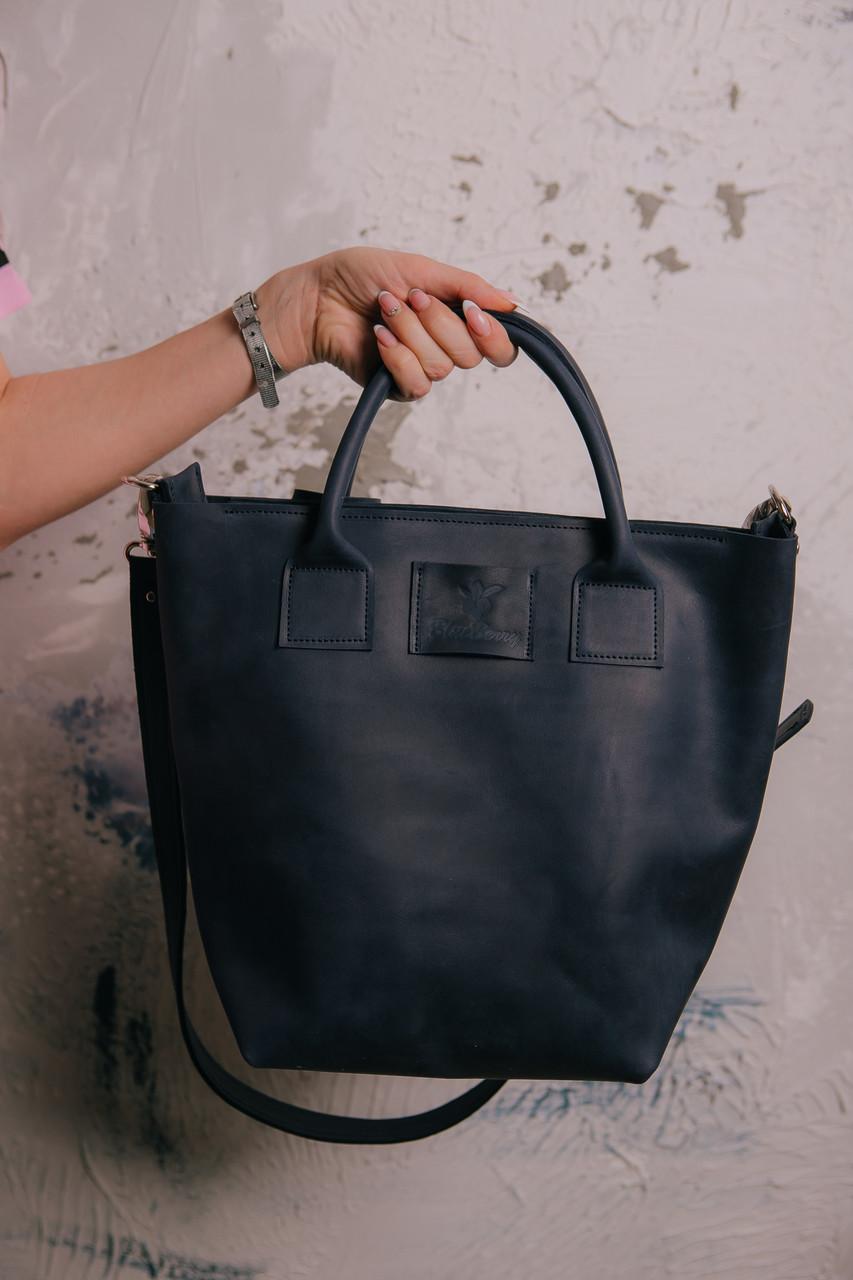 eaa2a4967527 Сумка женская, большая сумка через плечо, цвет темно-синий, шоппер B-bag,  сумка из ...