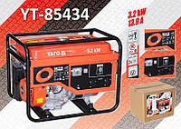 Электрогенератор бензиновий 220В., 3,2 кВт., бак 25л., YATO YT-85434