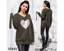 Ангоровый свитер женский оверсайз, фото 3