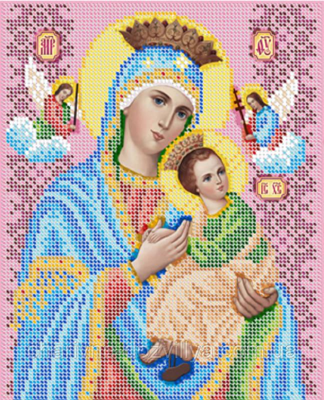 """Схема для вышивки бисером икона """"Богородица Неустанная помощница"""""""