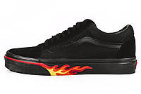 Женские кеды VANS Old Skool Black Fire