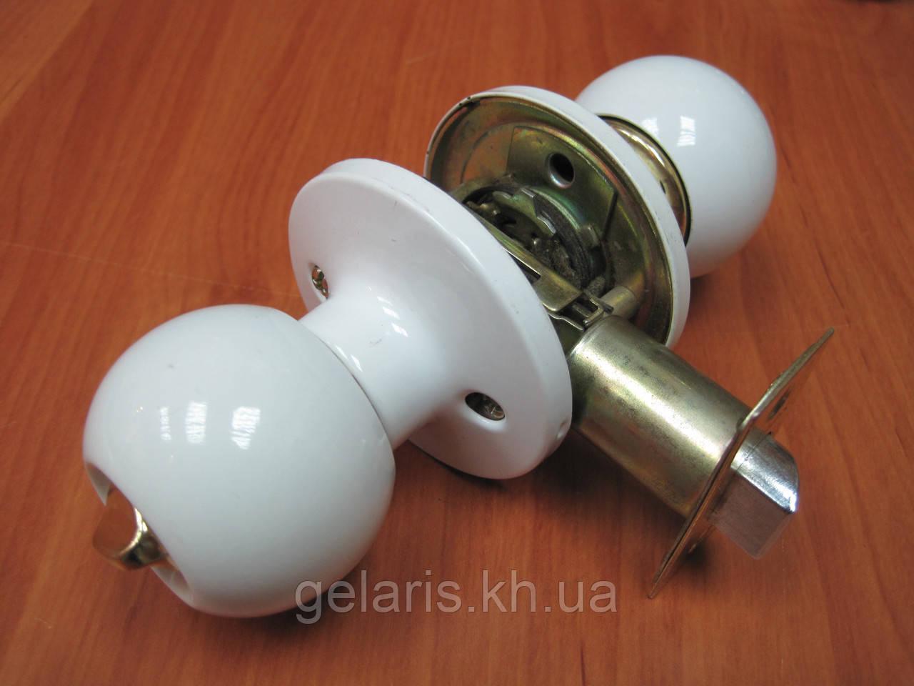 Ручка дверная Gelaris 36-07 без ключа белый