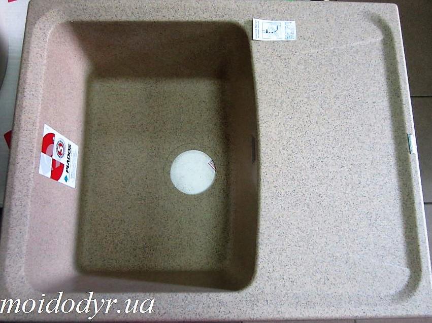 Гранитная кухонная мойка Plados Roxana HR6150 (92 темный беж)