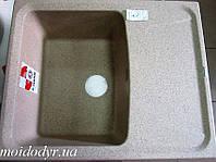 Гранитная кухонная мойка Plados Roxana HR6150 (92 темный беж), фото 1