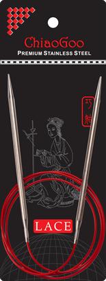 Стальные круговые спицы ChiaoGoo SS RED LACE 2,0 мм (100 см)