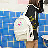 Молодежный рюкзак Фламинго с пеналом, фото 3