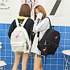 Молодежный рюкзак Фламинго с пеналом, фото 2