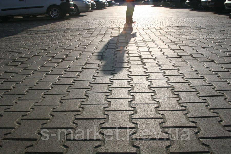 Тротуарная плитка Катушка (Серый) h - 80