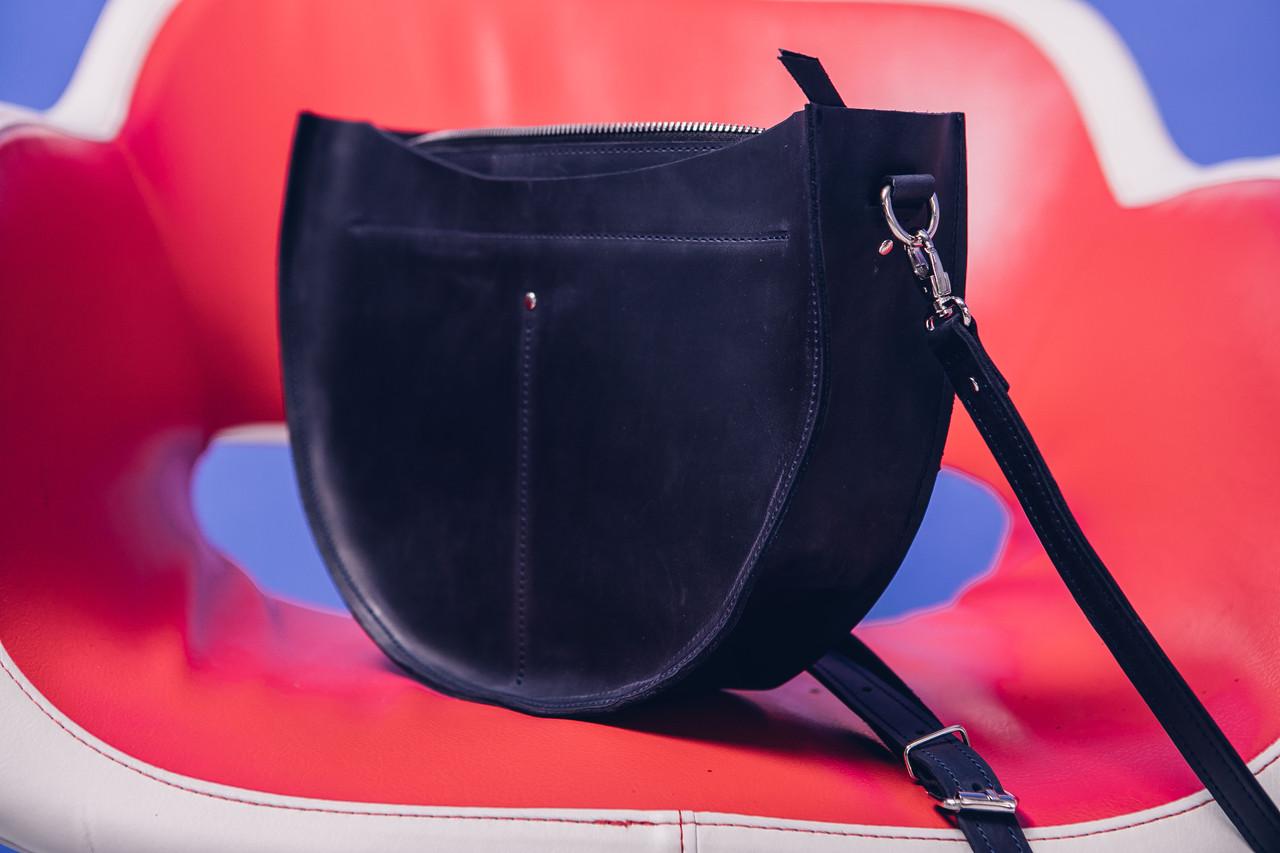 06556f09ca1f Кожаная сумка SEMI, цвет темно-сини, кожа, ручная работа, натуральная кожа