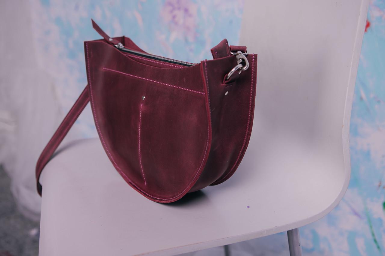 8e637354083c ... сумка Кожаная сумка SEMI, цвет бордовый, кожа, ручная работа,  натуральная кожа, сумка ...