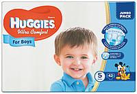 Подгузники Huggies Ultra Comfort 5 - Для мальчиков (12-22 кг) 42 шт