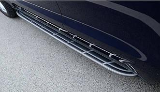 Пороги боковые Porsche Macan 2013-