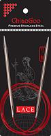 Стальные круговые спицы ChiaoGoo SS RED LACE 8,0 мм (100 см)