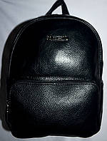Женский маленький рюкзак из искусственной кожи 24*28 см (черный)