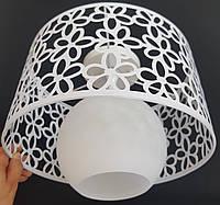 Стельовий світильник на одну лампочку білий