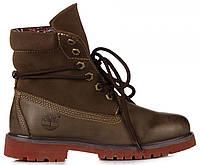 Мужские ботинки Timberland Roll-Top Тимберленд хаки c51e31fbd2f3a