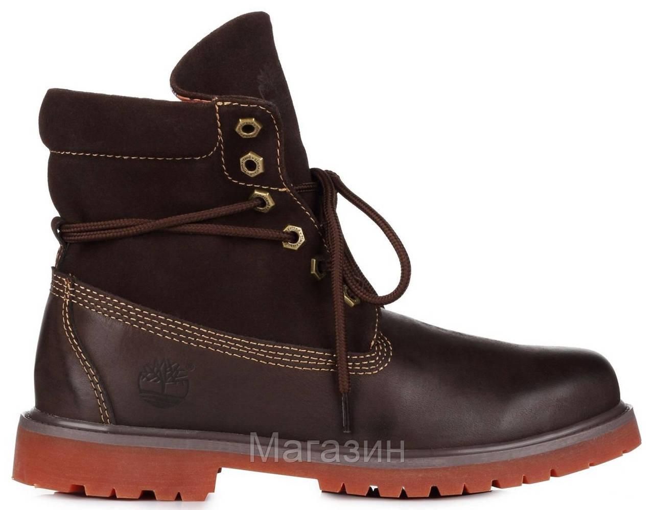 Мужские ботинки Timberland Roll-Top Brown Тимберленд коричневые