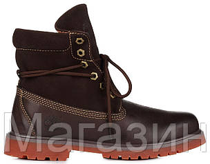 Мужские ботинки Timberland Roll-Top Brown Тимберленд коричневые, фото 2