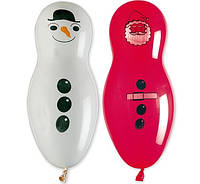 Шарики воздушные Снеговик, Дед Мороз