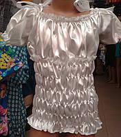 Блузка детская атлас размер S-XL