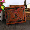 Бумажник в виде банкноты 100 USD Brown