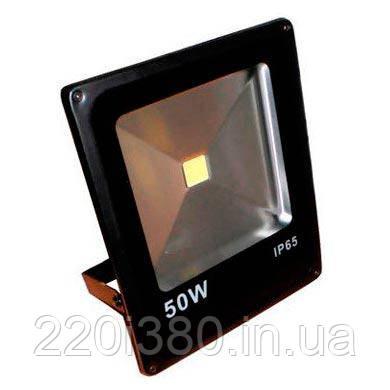 Прожектор LL-839 1LED 50W белый 6400K 230V (285*235*57mm) Черный IP65