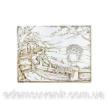 Панно Италия набережная белая с золотом малое, фото 2