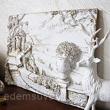 Панно Италия набережная белая с золотом малое, фото 3