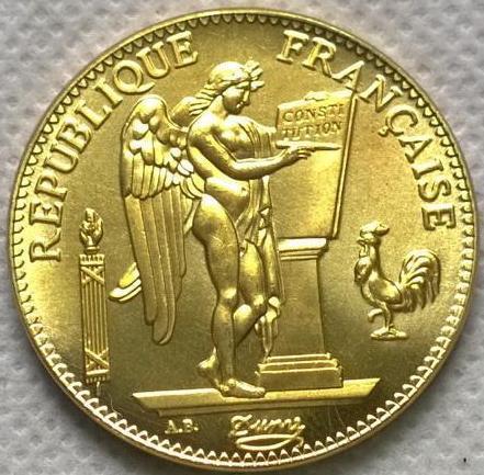 Франция  100 франков 1909 год  АНГЕЛ