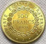 Франция  100 франков 1909 год  АНГЕЛ , фото 2