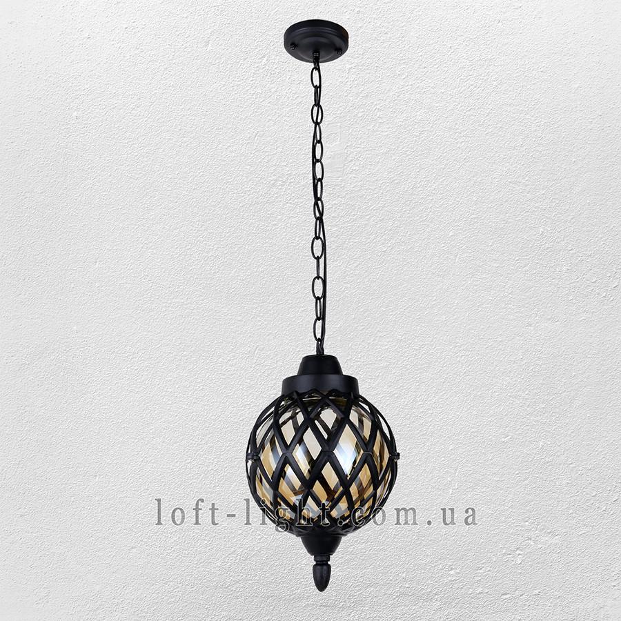 Садово-парковый  подвесной фонарь  67-V0104-M-PL BK