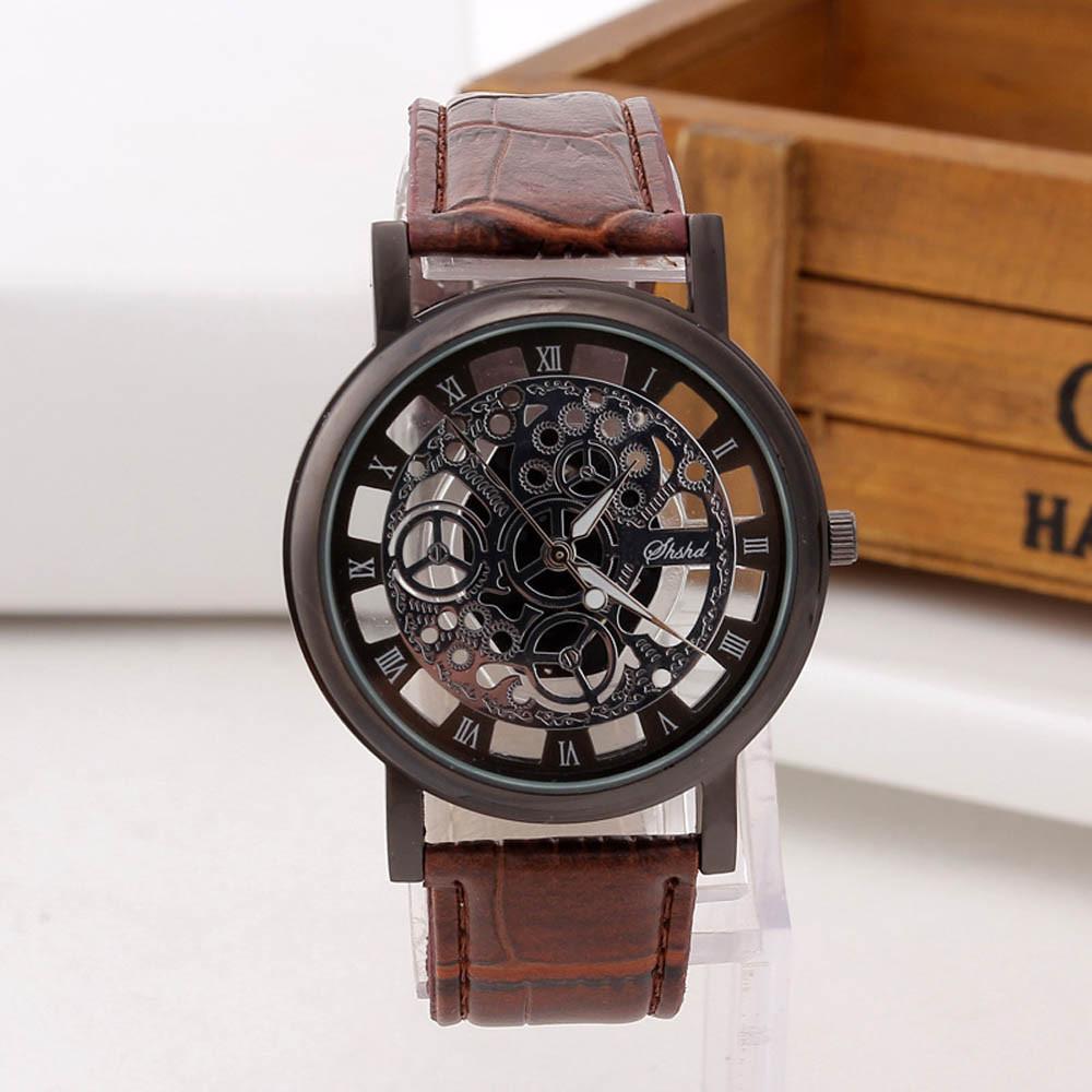 18dff3b3 Мужские Наручные Часы Кварцевые Часы Skeleton Brown — в Категории ...