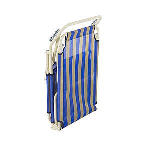 """Раскладушка """"Диагональ"""" d22 мм (текстилен сине-желтая полоса), фото 2"""