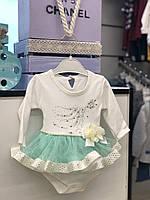Боди - платье с длинным рукавом для девочки 50,56,62,68